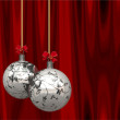 Christmas Balls Card Illustration — Stock Photo #13783869