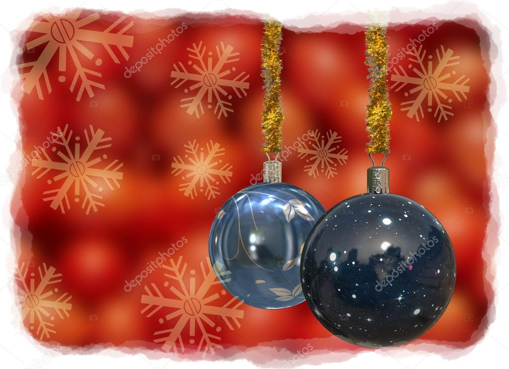 Isolated background of Christmas Balls Card Illustration  Stock Photo #13784501