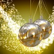 Christmas balls card illustration - Stock Photo