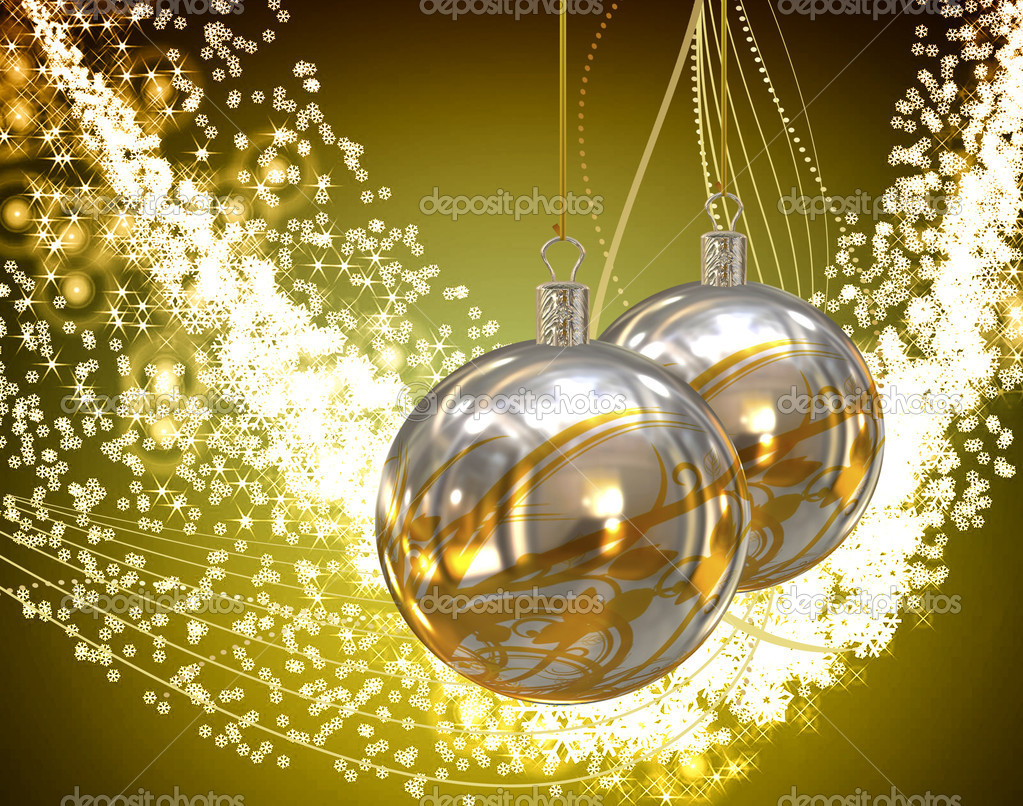 Christmas balls card illustration  — Stock Photo #13868480