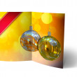 Christmas Balls brochure, Card Illustration — Stock Photo #14029222