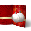 Christmas Balls brochure, Card Illustration — Stock Photo #14033563