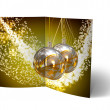 Christmas Balls brochure, Card Illustration — Stockfoto