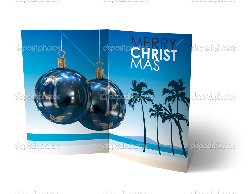 Isolated 3d Christmas Balls brochure, Card Illustration — Stock Photo #14033374