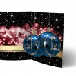 Christmas Balls brochure, Card Illustration — Foto Stock