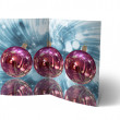 Christmas Balls brochure, Card Illustration — Stock Photo