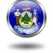 3D Maine Flag button illustration on a w — Stock Photo #1644435