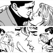 Illustration showing couples in love — Stockfoto