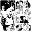 Illustration showing couples in love — Stock Photo #30455329