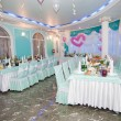 Wedding hall at restaurant with balloons — Stock Photo #12702860