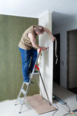 Finishing of walls. repair of the city apartment — Stock Photo