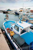 Fishing boats in port. Cyprus. Aja-napa. — Stock Photo