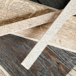 Samples of a broshirovanny parquet from an oak on the floor whic — Stock Photo