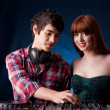 Royalty-Free Stock Photo: Woman and man - DJ