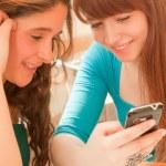 Girls studying — Stock Photo