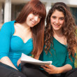 Friends studying — Stock Photo