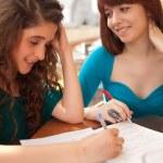 Women studying — Stock Photo