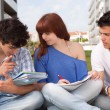 Foto de Stock  : Friends studying