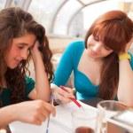 Girls is studying — Stock Photo