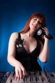 DJ woman — Stock Photo
