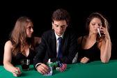 Man playing poker — Stock Photo