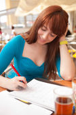 Girl is studying — Stock Photo