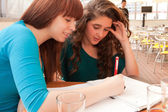 Girls is studying — Stock Photo