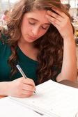 Girl is studying — Stock Photo