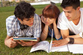 Friends are studying — Stock Photo
