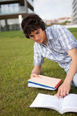 Man is studying — Stock Photo