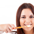 Woman with great teeth — Stock Photo