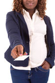 Large business woman — Stock Photo