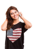 Woman at the phone — Stock Photo