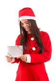 Santa Claus Woman — Stock Photo