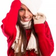Woman wearing winter clothes — Stock Photo