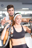 Woman at the gym — Stockfoto