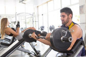 Man at the gym — Foto de Stock