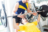 Man at the gym — Stockfoto