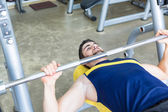 Mannen på gymmet — Stockfoto