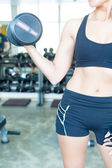 Woman at the gym — Stock Photo