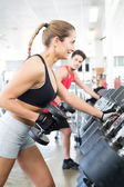 Woman at the gym — Foto Stock