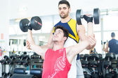 Man at the gym — Stock Photo