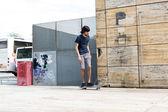 US-amerikanischer Skateboarder — Stockfoto