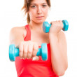 Woman with dumbbells — Stock Photo #50036471