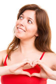 Woman making heart — Stock Photo