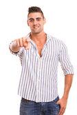 Man pointing — Stock Photo