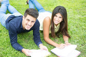 Couple of Students — Stock Photo