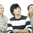 Three casual men — Stock Photo