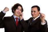 Two young business — Stock Photo