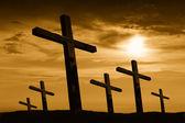 Cross silhouette — Stock Photo